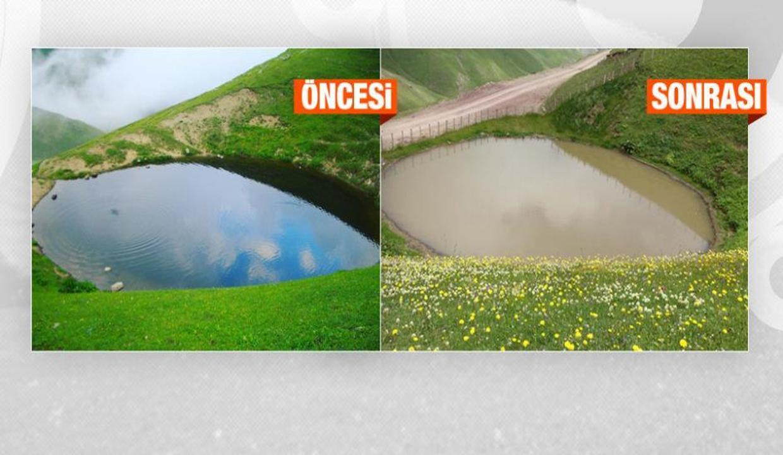 Definecilerin mahvettiği Dipsiz Göl, 'çamur göl' oldu