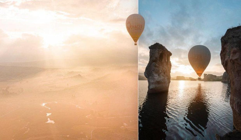 Ege'nin Kapadokya'sında balonlar uçmaya başladı