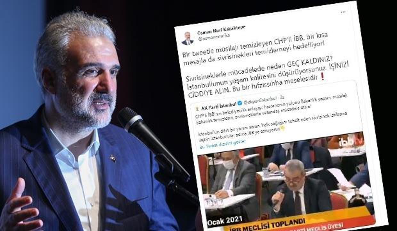 Sivrisineklerle mücadelede başarısız olan İBB'ye Osman Nuri Kabaktepe'den tepki
