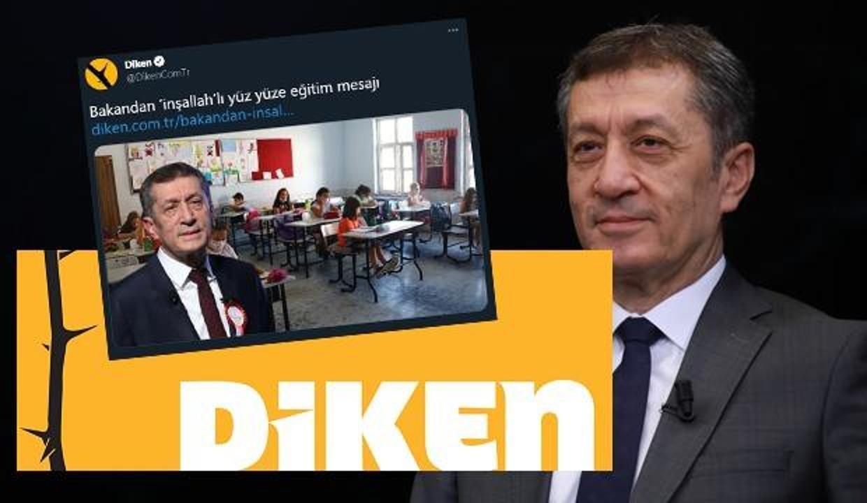 Bakan Selçuk'un yüz yüze eğitim açıklamasındaki 'inşallah' ifadesi Diken'i rahatsız etti