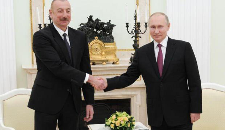 Putin ile Aliyev  yarın Moskova'da buluşacak