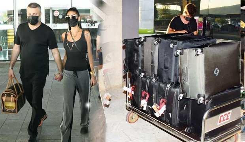 Ünlü isim Süreyya Yalçın 46 bavulla Türkiye'ye tatile geldi