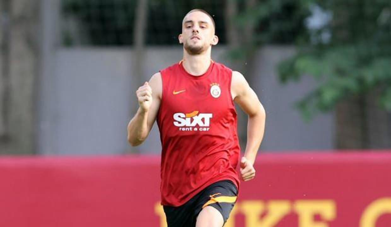 Berkan Kutlu, Galatasaray'da ilk antrenmanına çıktı
