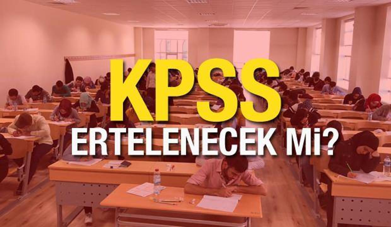 Bu hafta sonu yapılacak KPSS ertelenecek mi? 2021 KPSS lisans oturumları ne zaman yapılacak?