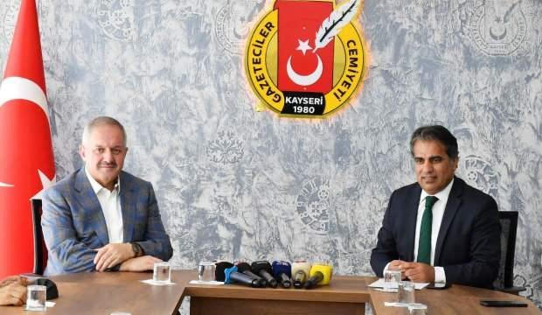 Kayseri OSB Başkanı Nursaçan, Gazeteciler Cemiyeti'ni ziyaret etti