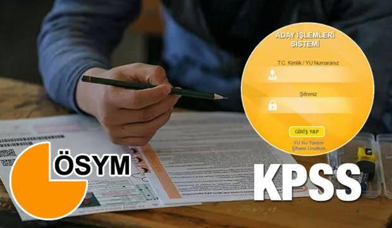 2021 KPSS sınav giriş belgesi sorgula! KPSS sınav yerleri nasıl çıkartılır?