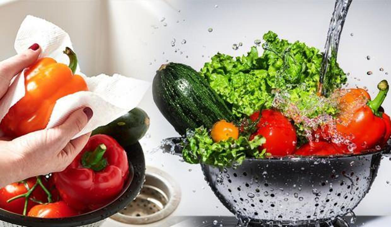 Meyve ve sebze temizliğinde doğru bilinen yanlışlar!
