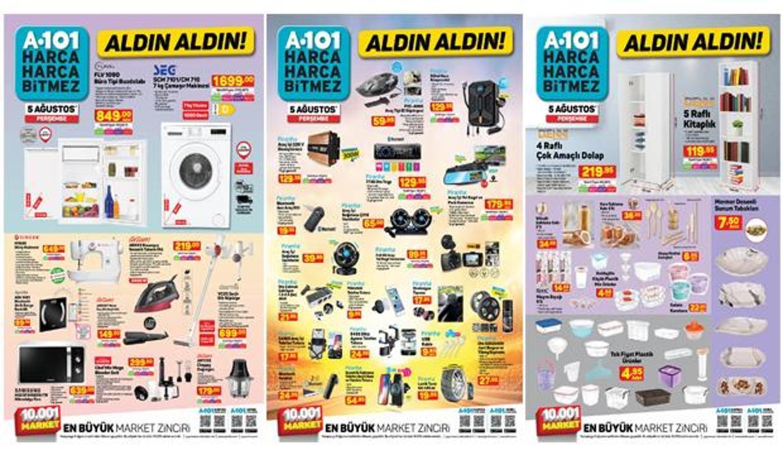 A101 5 Ağustos Aktüel Kataloğu! Bugüne özel tüm indirimli ürünlerin listesi açıklandı!