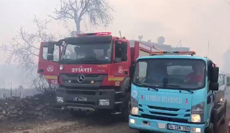Beyoğlu Belediyesi ekipleri yangınla mücadele için Manavgat'ta