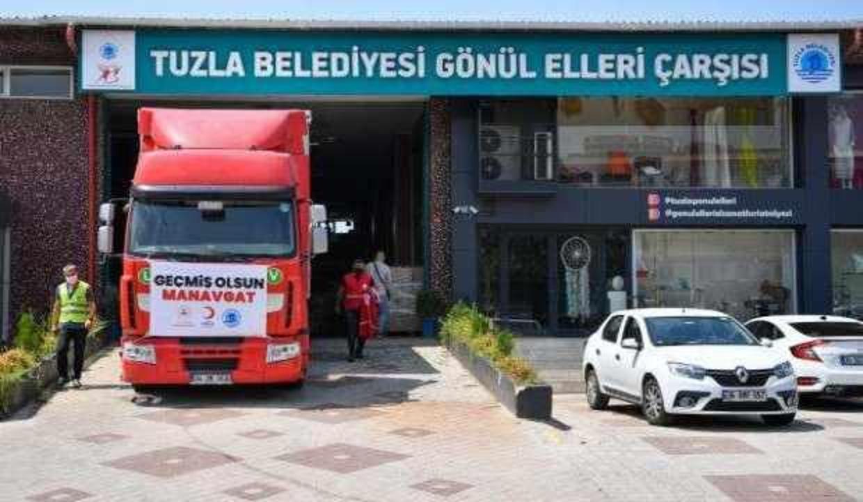 Tuzla başta olmak üzere İstanbul'daki belediyeler yangın bölgesinde