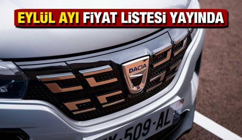 Dacia Eylül ayı son fiyat listesi! 2021 model Duster, Sandero, Lodgy, Combi güncel fiyatı