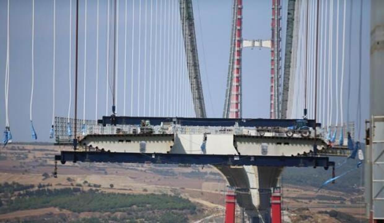 Dev köprüde çalışmalar hızla devam ediyor!