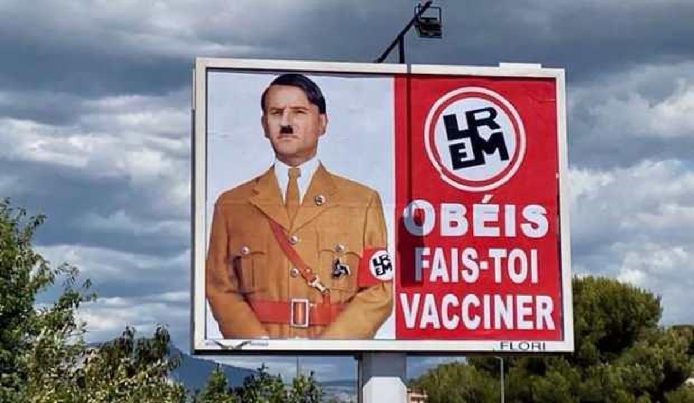 Macron'un Hitler'e benzetildiği afişi asana cezası kesildi