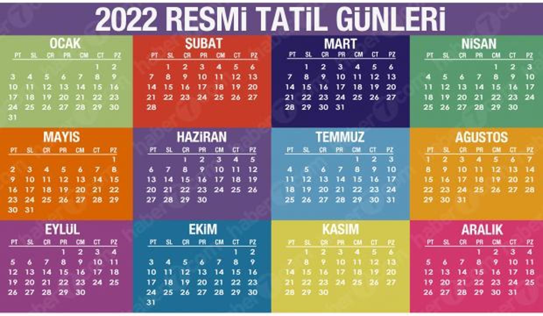 2022 Resmi Tatil Günleri Belli Oldu! Yeni yılda toplam kaç gün izin olacak?