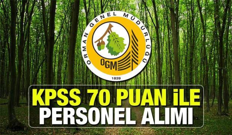 Orman Genel Müdürlüğü en az ortaöğretim mezunu personel alımı! Başvuru için yarın son gün...