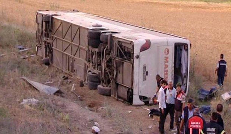 Ankara'da otobüs kazası: 45 yaralı