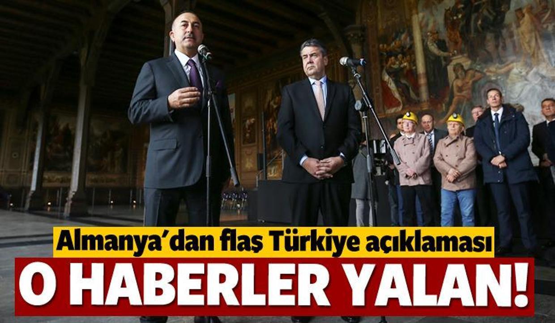 Almanya'dan Türkiye açıklaması: O iddialar yalan