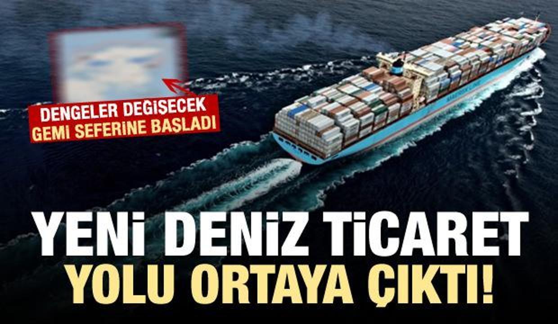 Gemi seferine başladı! Yeni ticaret yolu...