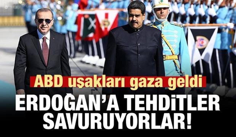 ABD uşağı Emre Uslu'dan alçakça Maduro-Erdoğan tweeti!