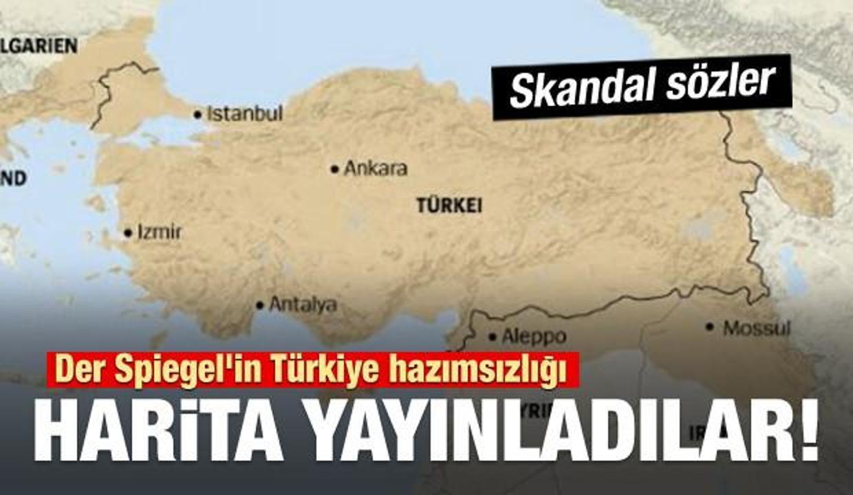 Der Spiegel'in Türkiye hazımsızlığı: Harita yayınladı!