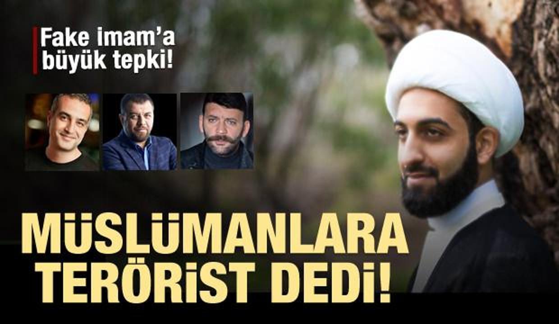 Müslümanları terörizmle suçlayan sözde imama büyük tepki!