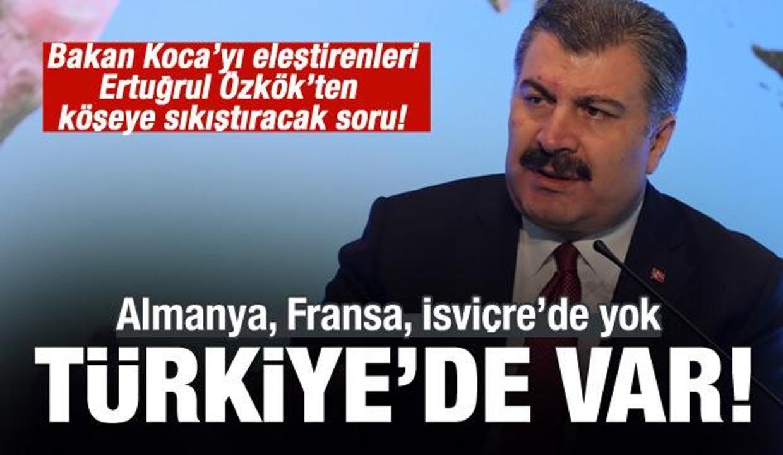 Sağlık Bakanı Fahrettin Koca'ya bir haksızlık daha!