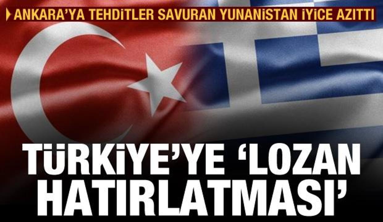 Yunanistan'dan Türkiye'ye skandal 'Lozan Anlaşması' hatırlatması
