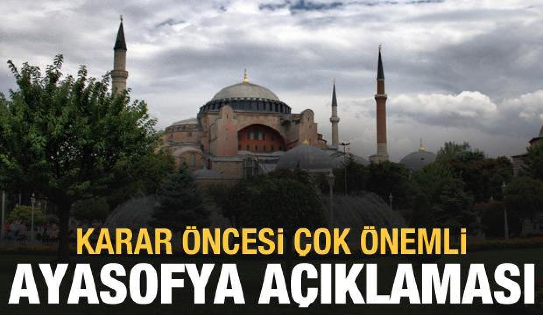 Adalet Bakanı Gül'den son dakika Ayasofya açıklaması