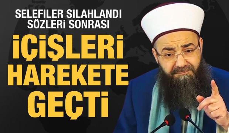Cübbeli Ahmet Hoca'nın '2 bin selefi dernek silahlandı' sözleri sonra İçişleri'nden açıklama