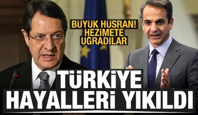 Türkiye hayalleri yıkıldı! Rumlar ve Yunanistan büyük hezimete uğradı