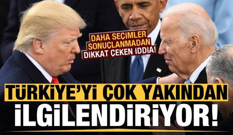 Türkiye'yi çok yakından ilgilendiriyor! ABD seçimi sonuçlanmadan dikkat çeken iddia