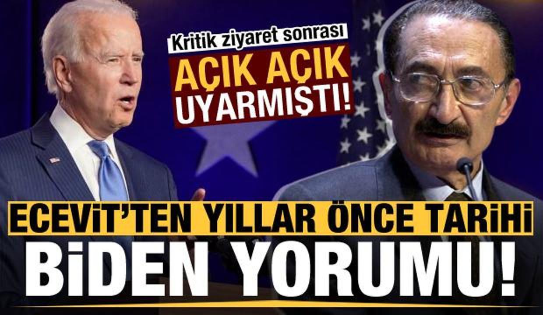Bülent Ecevit'ten tarihi Biden yorumu: Yunan lobisi militanı!