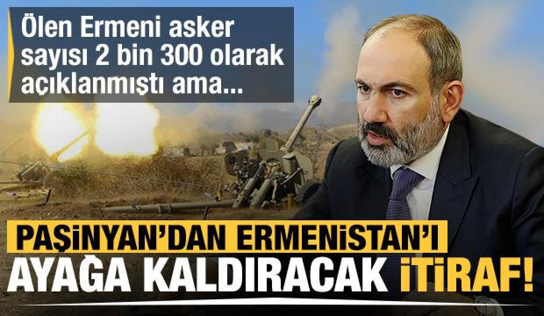 Paşinyan'dan ülkeyi ayağa kaldıracak itiraf! Ölen Ermeni asker sayısı 2 bin 300 biliniyordu
