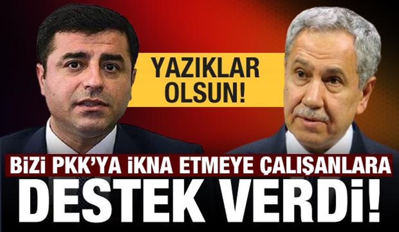 Arınç bizi PKK'ya ikna etmeye çalışanlara destek verdi! Yazıklar olsun