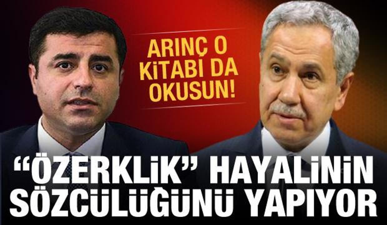 """Arınç o kitabı da okusun! PKK'nın """"özerklik"""" hayalinin sözcülüğünü yapıyor"""
