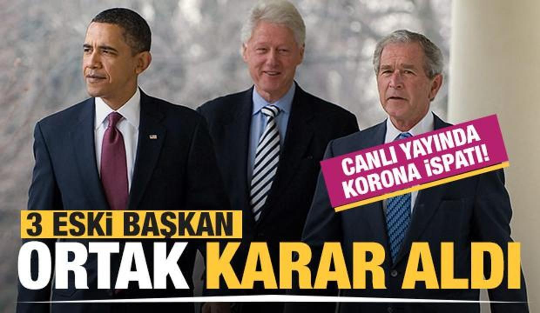 Obama, Bush ve Bill Clinton'dan ortak korona kararı!