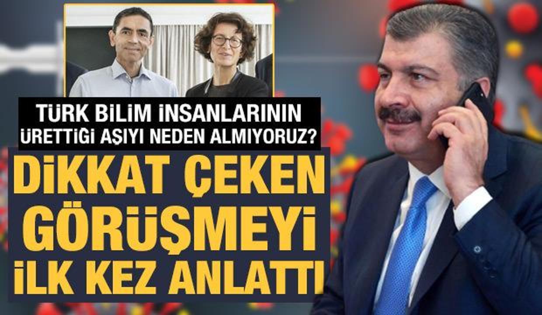 Türk bilim insanlarının ürettiği aşıyı niye almıyoruz? Bakan Koca ilk kez anlattı