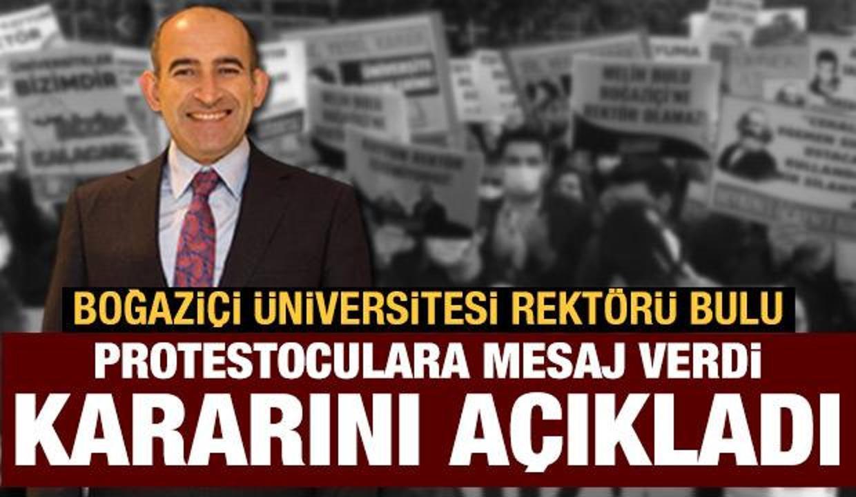 Boğaziçi Üniversitesi Rektörü Melih Bulu: Zaman içinde beni takdir edecekler