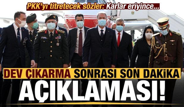 PKK'yı titretecek sözler! Dev çıkarma ile ilgili dikkat çeken açıklama: Karlar eriyince...