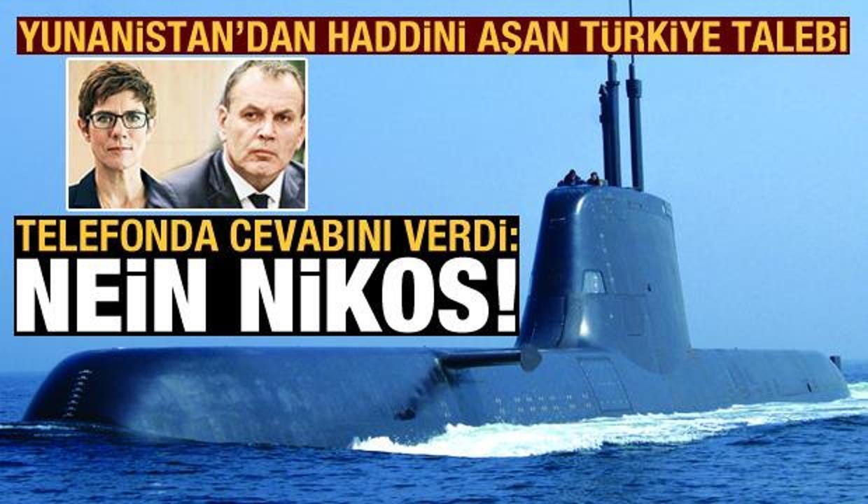 Yunanistan'ın Türkiye talebine Almanya'dan telefonda cevap: Nein Nikos