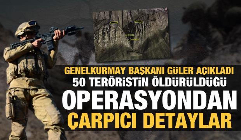 Genelkurmay Başkanı Güler, Gara'daki operasyonun detaylarını açıkladı