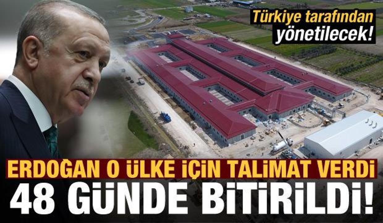 Erdoğan talimat verdi, Arnavutluk'ta 48 gün içinde inşa edildi!