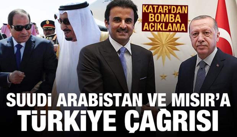 Katar'dan Suudi Arabistan ve Mısır'a Türkiye çağrısı