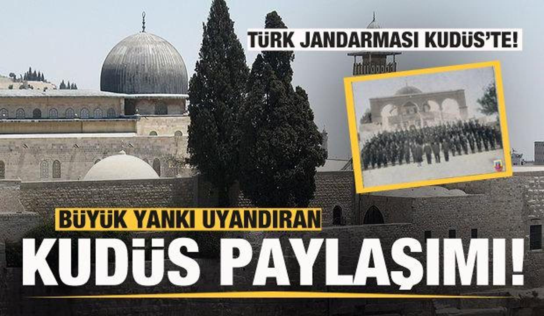 Türk Jandarması Kudüs'te! Büyük yankı uyandıran paylaşım!