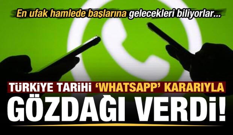 Son dakika: Tarihi 'WhatsApp' kararı sonrası Türkiye'nin eli güçlendi!