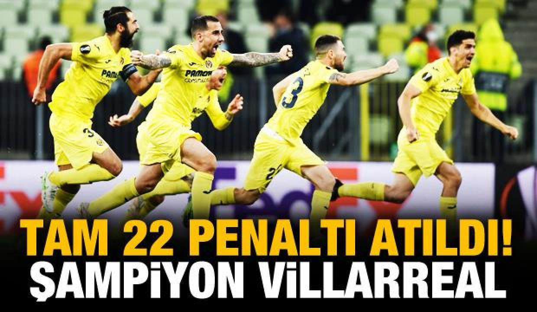 UEFA Avrupa Ligi şampiyonu Villarreal!