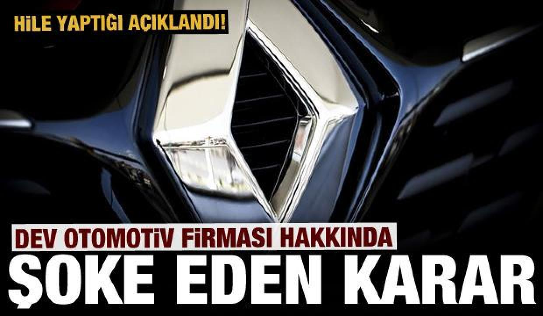 Renault'a büyük şok: Hile yaptığı ortaya çıktı!