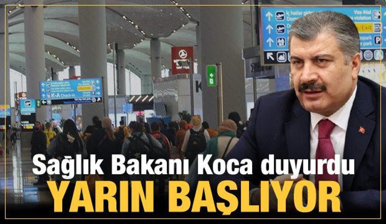 Bakan Koca duyurdu: İki sınır kapısı ve havalimanında daha aşılama başlıyor