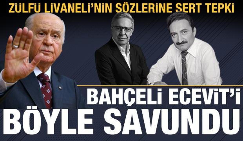 Bahçeli'den Zülfü Livaneli'nin Ecevit'le ilgili sözlerine tepki