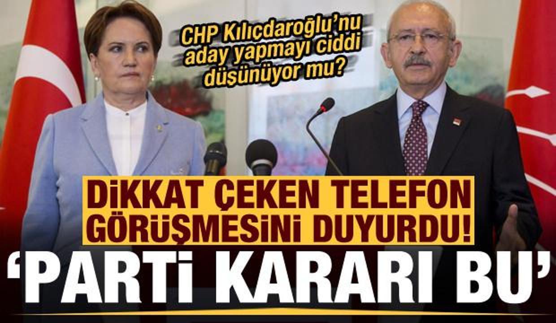 CHP Kılıçdaroğlu'nu aday yapmayı düşünüyor mu? Dikkat çeken telefon görüşmesini açıkladı